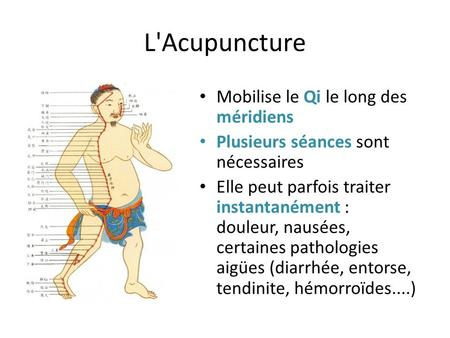 L'Acupuncture Mobilise le Qi le long des méridiens