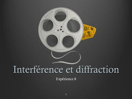 Interférence et diffraction
