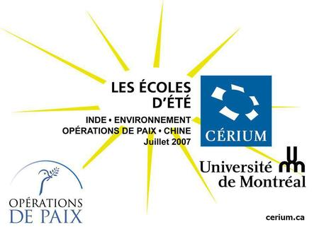 United Nations cerium.ca. United Nations VERS UNE NOUVELLE DOCTRINE POUR LES OPERATIONS DE MAINTIEN DE LA PAIX DE LONU Ecoles dÉté du CERIUM.
