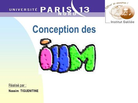 Conception des Réalisé par : Nassim TIGUENITINE. 2 PLAN Introduction Démarche ergonomique de conception Méthode de conception : LUCID Conception dIHM.