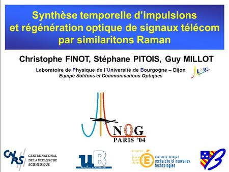 Synthèse temporelle d'impulsions