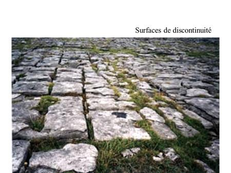 Surfaces de discontinuité. Cryofracturation.
