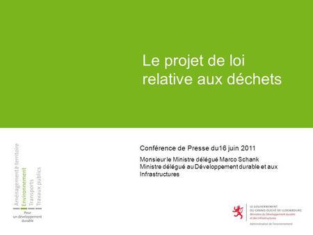 projet de gestion des dechets pdf