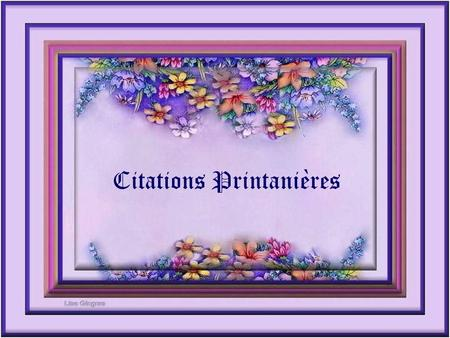 Citations Printanières