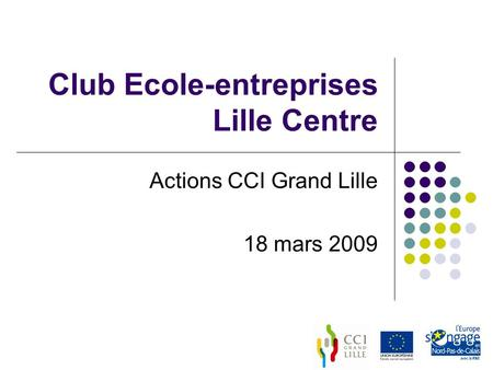 Club Ecole-entreprises Lille Centre Actions CCI Grand Lille 18 mars 2009.
