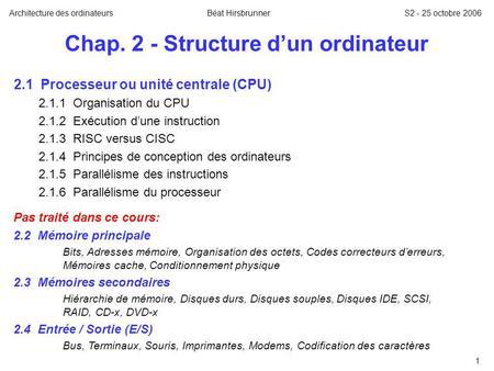 D cours ordinateurs architecture des pdf