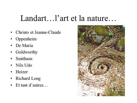 Landart…l'art et la nature…