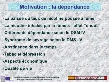 Motivation : la dépendance