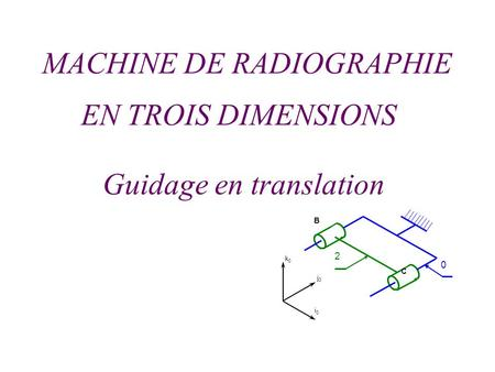 Guidage en translation
