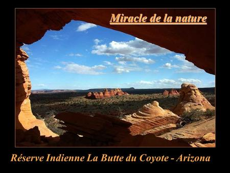 Miracle de la nature Réserve Indienne La Butte du Coyote - Arizona.