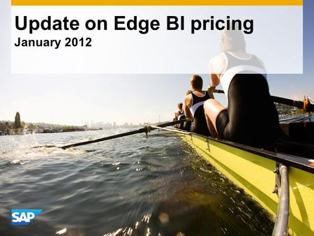 Update on Edge BI pricing January ©2011 SAP AG. All rights reserved.2 Confidential What you told us about the new Edge BI pricing Full Web Intelligence.