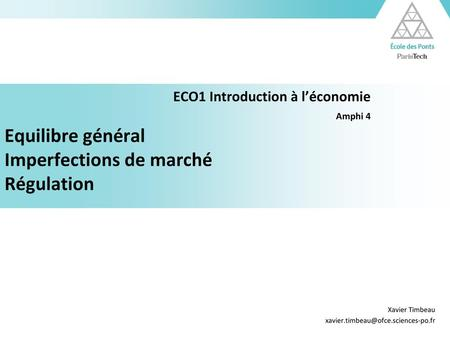 ECO1 Introduction à l'économie