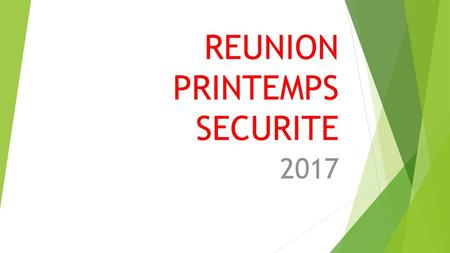 REUNION PRINTEMPS SECURITE
