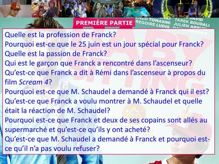Quelle est la profession de Franck?