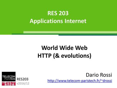 RES 203 Applications Internet