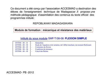 Cours rdm flexion plane simple