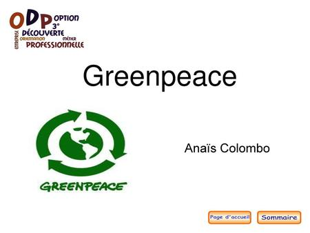 Greenpeace Anaïs Colombo.