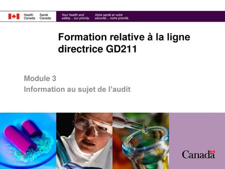 Formation relative à la ligne directrice GD211
