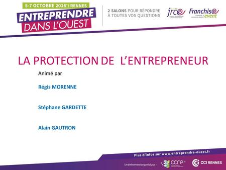LA PROTECTION DE L'ENTREPRENEUR