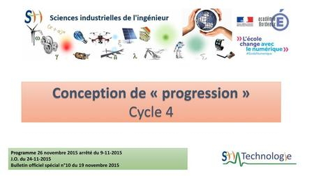 Conception de « progression »