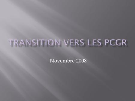 Novembre 2008. Introduction Redressements au 1 er juillet 2008 Principaux changements 2008-2009 2.
