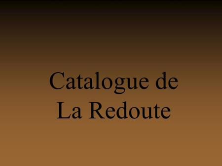 Catalogue de La Redoute.