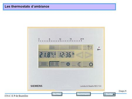 Diapo 1 ITS C E P de Bazeilles Les thermostats dambiance.