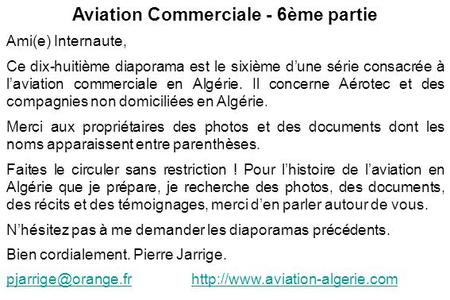 Aviation Commerciale - 6ème partie