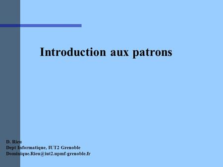 Introduction aux patrons