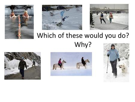 Which of these would you do? Why?