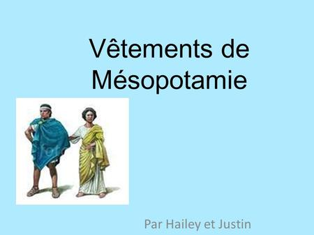 Vêtements de Mésopotamie