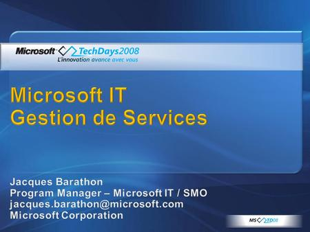Microsoft IT Gestion de Services
