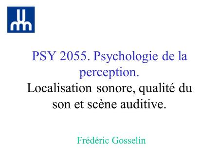 PSY Psychologie de la perception