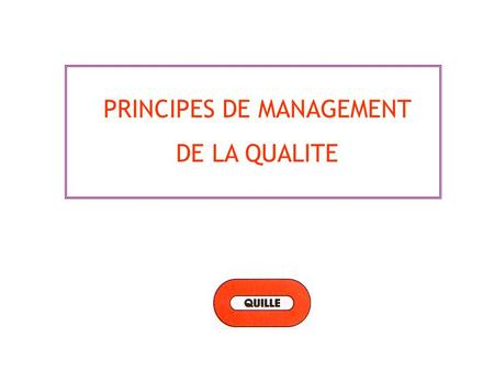 PRINCIPES DE MANAGEMENT