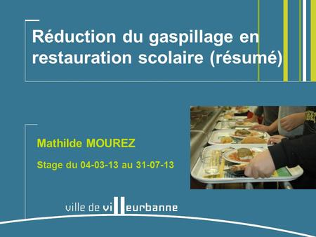 Gaspillage alimentaire restauration scolaire