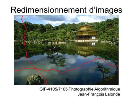 Redimensionnement d'images