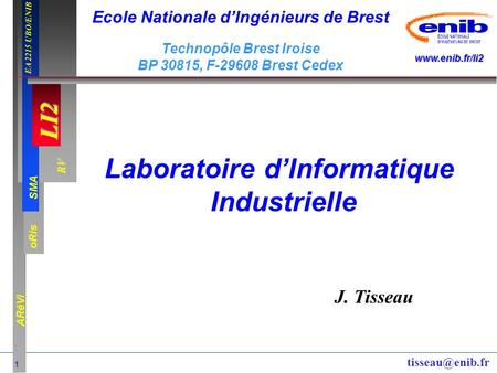 Laboratoire d'Informatique Industrielle