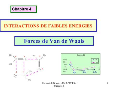 INTERACTIONS DE FAIBLES ENERGIES