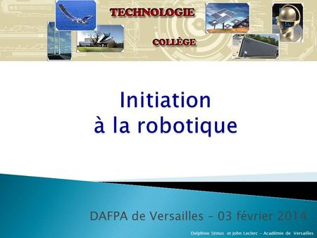 Initiation à la robotique