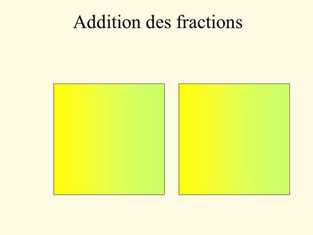 Addition des fractions. 1414 1313 1414 1313 1414 1313.