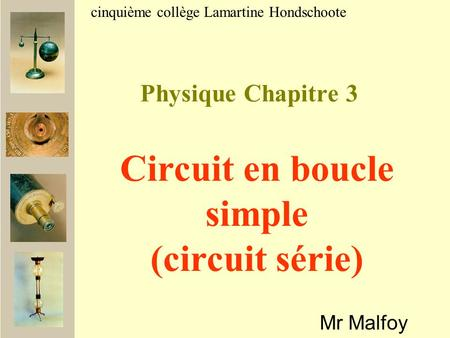 Circuit en boucle simple