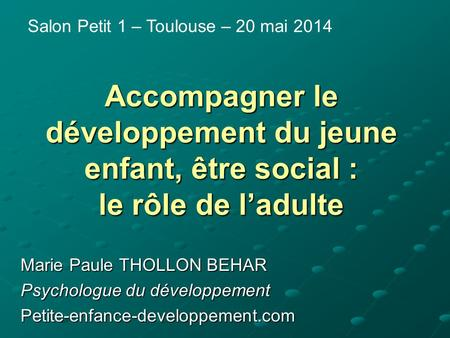 Salon Petit 1 – Toulouse – 20 mai 2014