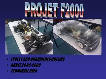 PROJET F2000 LYCEE PARC CHABRIERES OULLINS ANNEE
