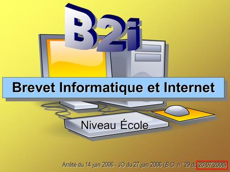 Brevet Informatique et Internet
