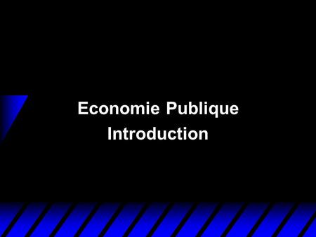 Economie Publique Introduction