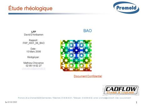 Étude rhéologique BAO Document Confidentiel LFP David D'hiribarren