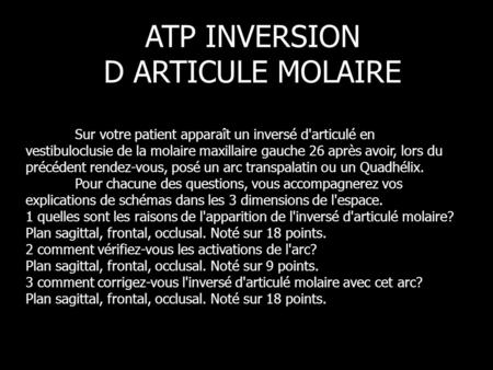 ATP INVERSION D ARTICULE MOLAIRE