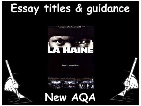 Essay titles & guidance