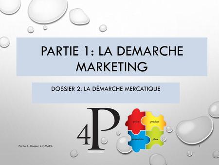 Partie 1: la demarche MARKETING