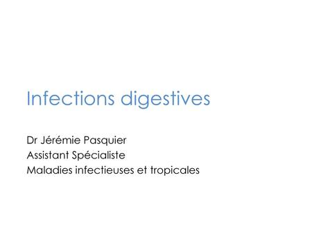 Infections digestives